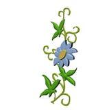 Flor aislada de la frontera libre illustration