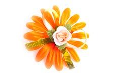 Flor alaranjada artificial fotografia de stock