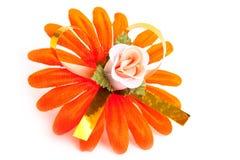 Flor alaranjada artificial imagem de stock royalty free