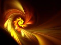 flor alaranjada do fractal Imagens de Stock Royalty Free