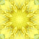 Flor amarela ilustração stock