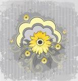 Flor amarela ilustração royalty free