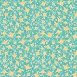 Flor amarela abstrata sem emenda Imagem de Stock