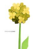 Flor amarela de Origami Imagens de Stock