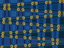 Flor amarela no fundo azul! Imagem de fundo, papel de parede, imagem do fundo Imagem muito bonita de mim com amor! fotos de stock