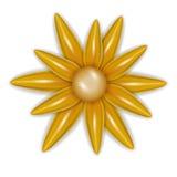 Flor amarela no projeto do vetor Fotografia de Stock Royalty Free