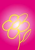 Flor amarilla en rojo ilustración del vector