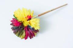 Flor amarilla pintada Imagen de archivo libre de regalías