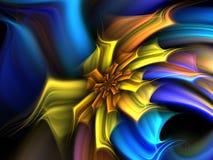 Flor amarilla y azul Fotografía de archivo libre de regalías