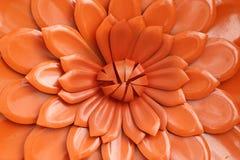 Flor anaranjada del metal Fotografía de archivo