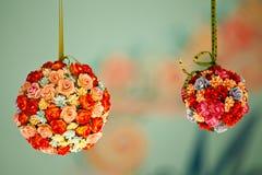 Flor artificial colorida Foto de archivo libre de regalías
