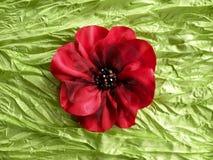Flor artificial de la tela imagen de archivo libre de regalías