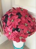 Flor artificial roja Imagen de archivo libre de regalías