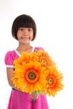 Flor asiática pequena da menina Fotos de Stock Royalty Free