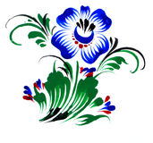 Flor azul Imagens de Stock