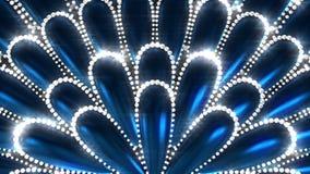 Flor azul con los diamantes libre illustration