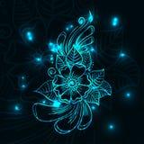 Flor azul del brillo Foto de archivo