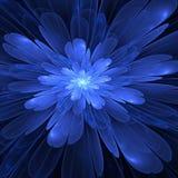Flor azul del fractal Fotos de archivo
