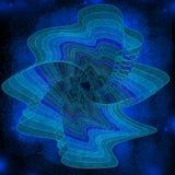 Flor azul do azul do espaço imagens de stock