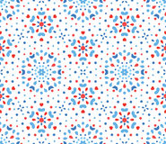 Flor azul e vermelha pequena Dots Pattern Imagens de Stock
