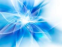 Flor azul que brilla intensamente