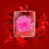Flor bajo el vidrio ilustración del vector