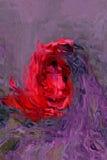 Flor bajo el vidrio imágenes de archivo libres de regalías