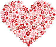 Flor bajo la forma de corazón Fotos de archivo libres de regalías