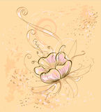 Flor bege ilustração do vetor