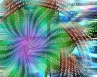 Flor binária Imagem de Stock