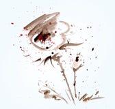 Flor blanda de la acuarela Imagen de archivo libre de regalías
