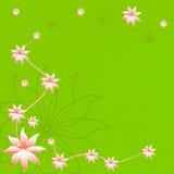 Flor bonita da mola no fundo verde ilustração do vetor