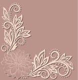 Flor bonita do laço no canto Imagens de Stock Royalty Free