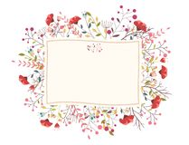 Flor bonita retro Imagem de Stock Royalty Free