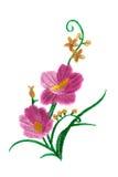 Flor bordada Fotos de Stock Royalty Free