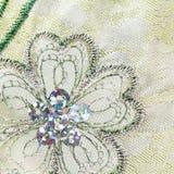 Flor bordada máquina Imagem de Stock