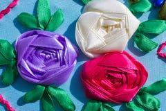 Flor bordada teste padrão Imagem de Stock