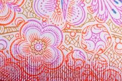 Flor china del fondo del rmb del dinero Foto de archivo libre de regalías