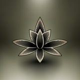 Flor chinesa dos lótus do vetor Imagem de Stock