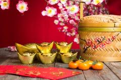 Flor chino del ciruelo de la decoración del Año Nuevo Fotografía de archivo