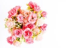 Flor color de rosa del plástico Imágenes de archivo libres de regalías