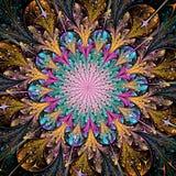 Flor colorida brilhante do fractal imagem de stock