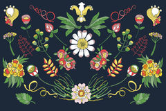 Flor colorida das garatujas Ilustração do Vetor