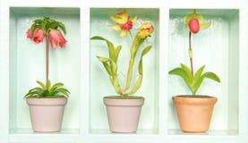 Flor colorida de la arcilla Fotografía de archivo