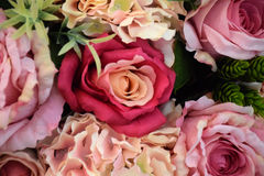 Flor colorida de la rosa en sala de reunión Imagen de archivo