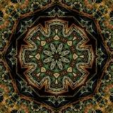 Flor colorida del fractal stock de ilustración