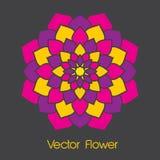 Flor colorida del vector Fotos de archivo libres de regalías