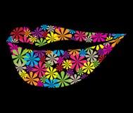 Flor colorida en forma del labio Imágenes de archivo libres de regalías