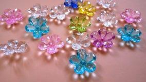 Flor colorida sortido Crystal Gems fotografia de stock royalty free