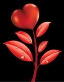 Flor com coração Imagem de Stock Royalty Free